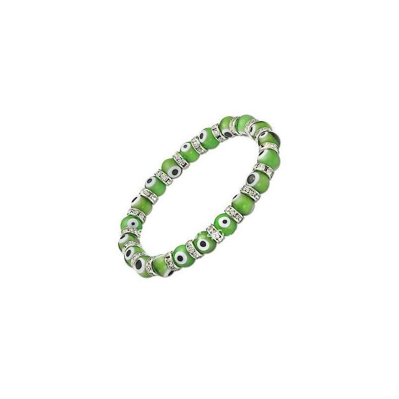 Ochranný náramek Evil Eye zelený