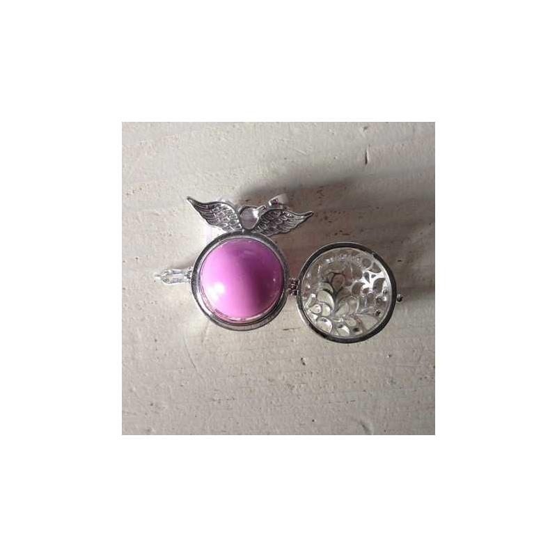 Andělský zvonek / Bola s křídly růžová