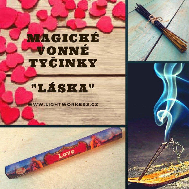 Magické vonné tyčinky Láska
