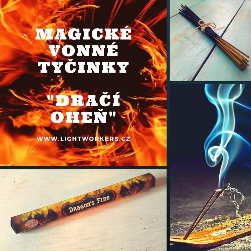 Magické vonné tyčinky Dračí oheň