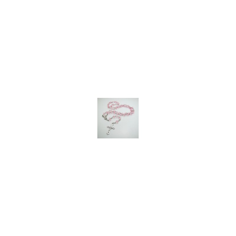 Klasický růženec (růžový)