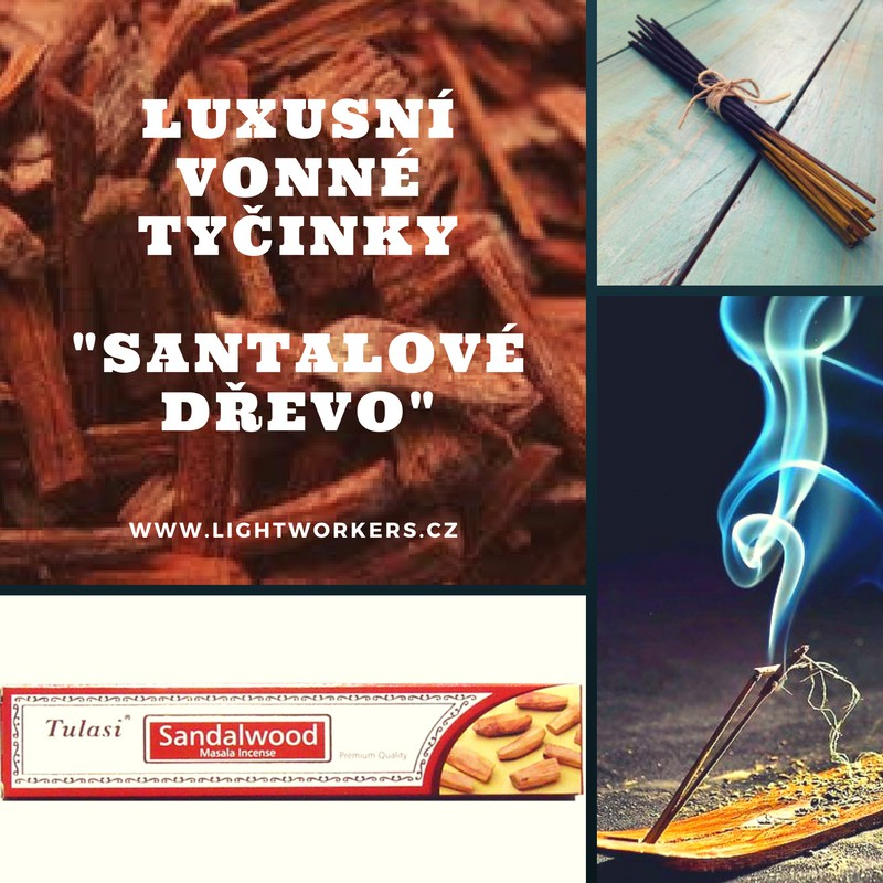 Prémiové vonné tyčinky Santalové dřevo